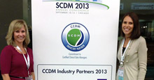 Tracie Evans and Kristin Pearson at SCDM 2013 Conference
